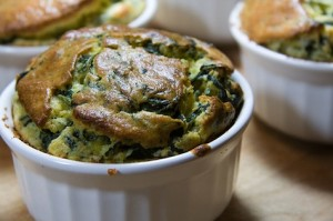 spinach mushroom souffle